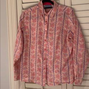 Pink and purple wrangler snap shirt